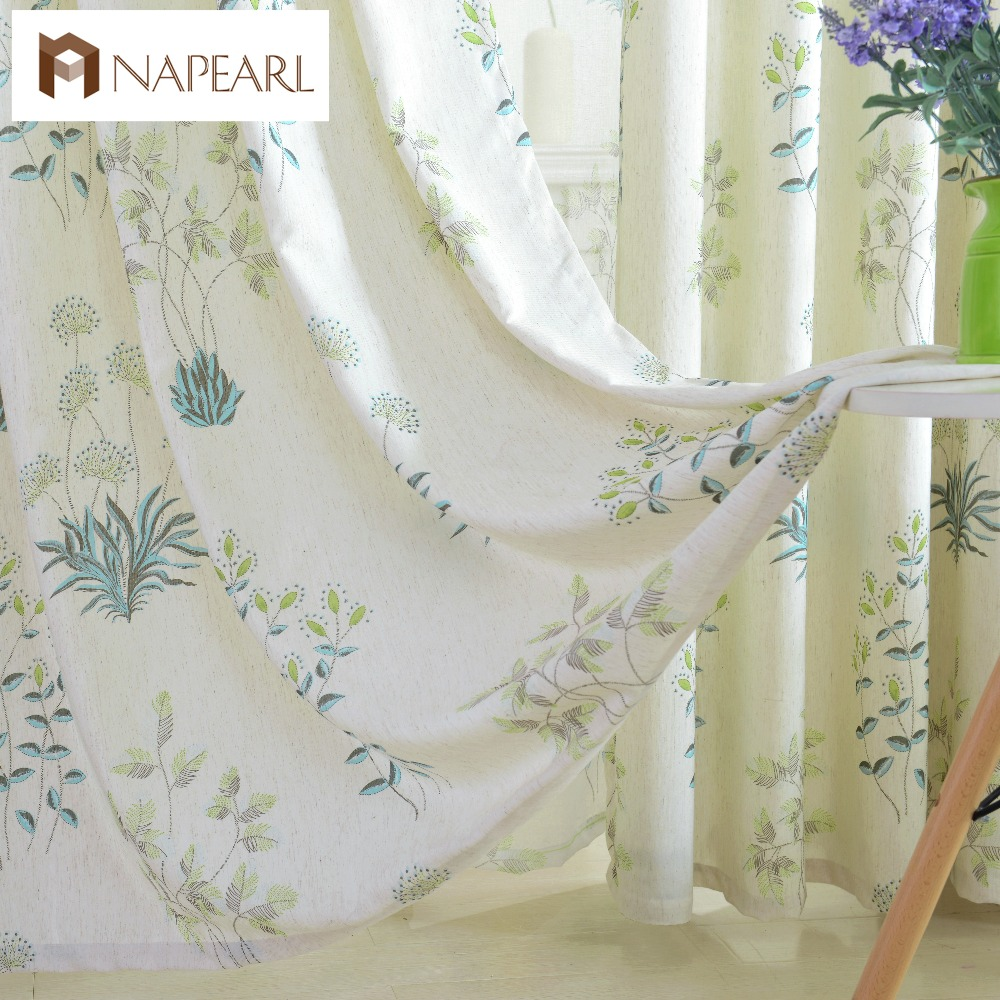 NAPEARL American country style rustic pastoral curtains