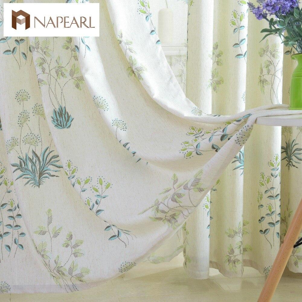 US $6.31 23% di SCONTO|NAPEARL paese Americano stile rustico pastorale  tende casa ready made per la tenda di finestra moderna tenda di lino da  cucina ...