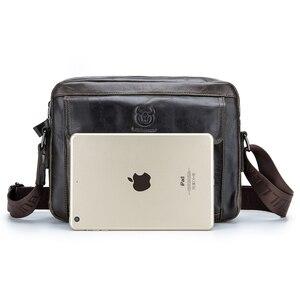 Image 5 - ABDB VINTAGE ของแท้กระเป๋าหนังผู้ชายกระเป๋าชายไหล่กระเป๋า Crossbody กระเป๋า Cowhide ความจุขนาดใหญ่เดินทาง Messenger B