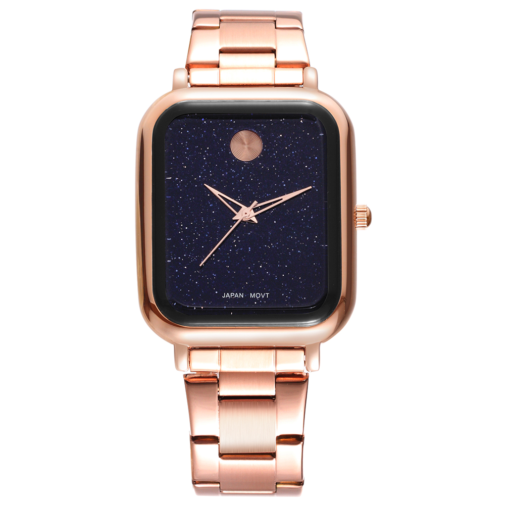 WEIQIN Japan Move Quartz Women Watches Rectangular Alloy stap Starry sky Casual Business Female Gold Wristwatch Relogio Feminino