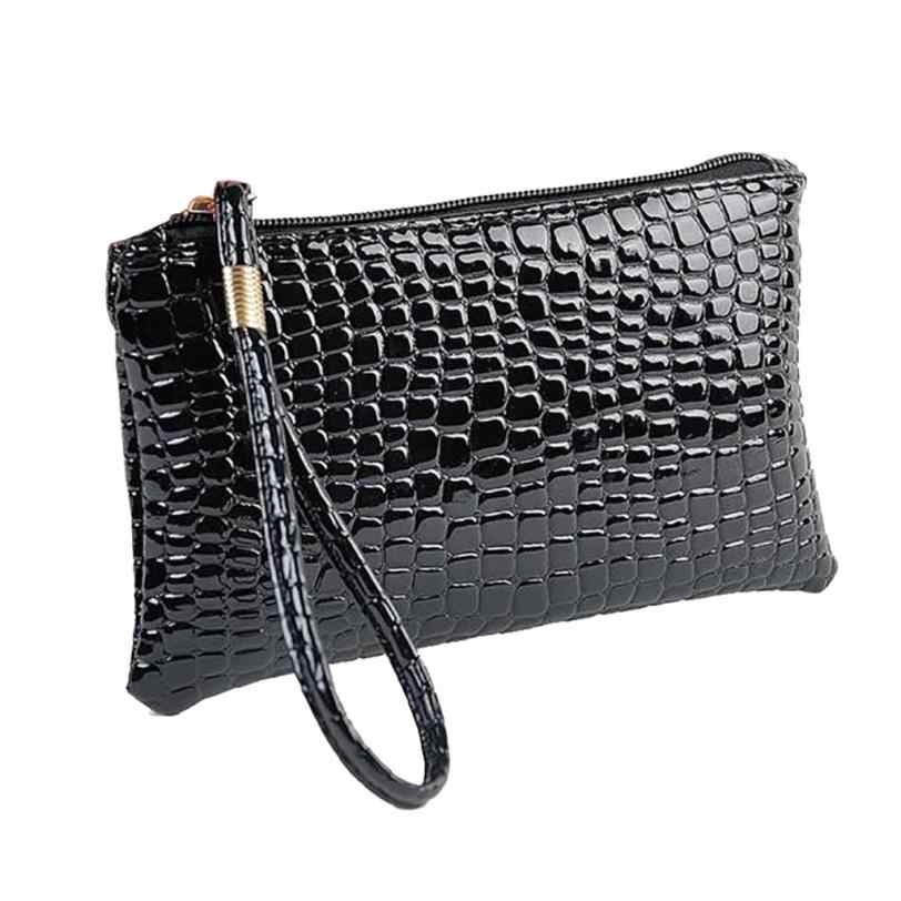Five colors Women Crocodile Leather Clutch Handbag Bag Coin Purse brief fashion style bags for women 2019