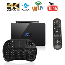 X92 2 GB 16 GB 3 GB 16/32 GB Smart TV BOX Android 6.0 Amlogic S912 2.0 GHz OctaCore KD 16.1 5G Wifi 4 K Media Player BT PK X96 A95X(China (Mainland))