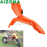 For KTM 85/125/250/300/350/450/500 XC/SX/SXF/EXC/SXS/XCF/EXCF MX Dirt Bike Motocross Front Fender Orange Number Plate 2013 2016