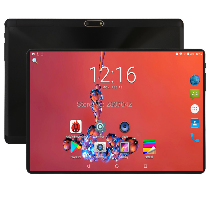 Global 10 Inch Tablet 3G 4G FDD LTE Android 9.0 Octa Core 1280X800 IPS 2.5D Touch Screen RAM 6GB ROM 64 GB GPS Tablet 10 GPS Pad