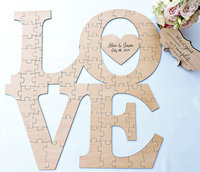 Love Wedding Guest Book Puzzle Love Wood Puzzle Guestbook Wedding Guest Book Puzzle Custom Reception Party