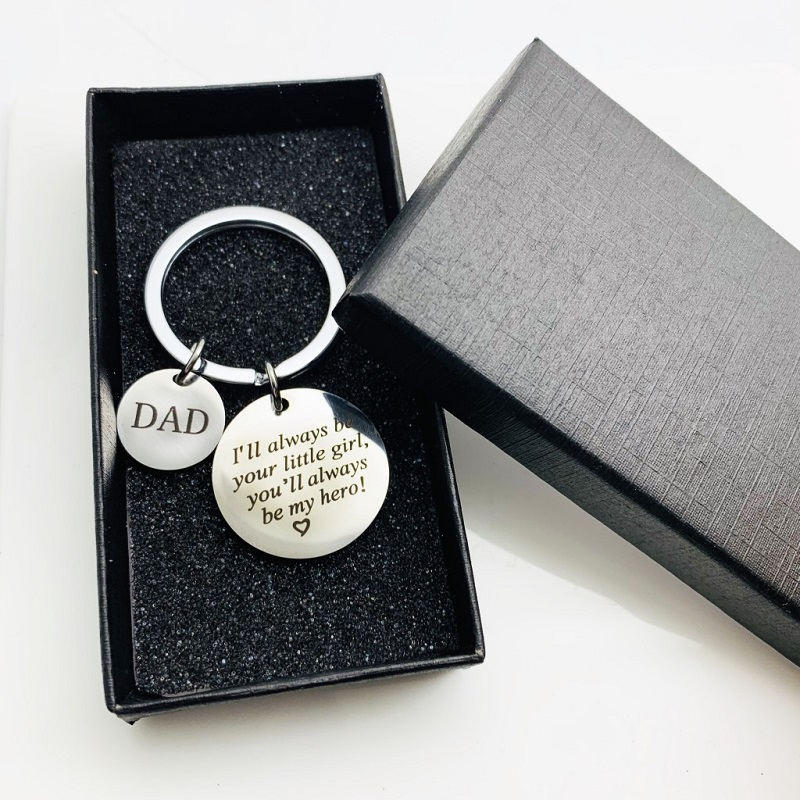 Dad I Will Always Be Your Little Girl You Will Always Be My Hero Creative Father's Day Gift Stainless Steel Personality Fashion