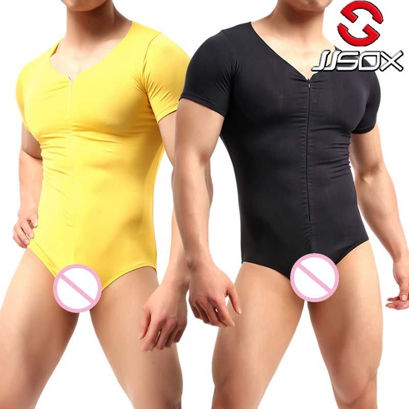 New Fashion 2018 Sexy Lingerie Hot Mens Wrestling Singlet Teddy Lingerie Bodysuit  Modal Mens Sexy Body Stocking Plus Size XL
