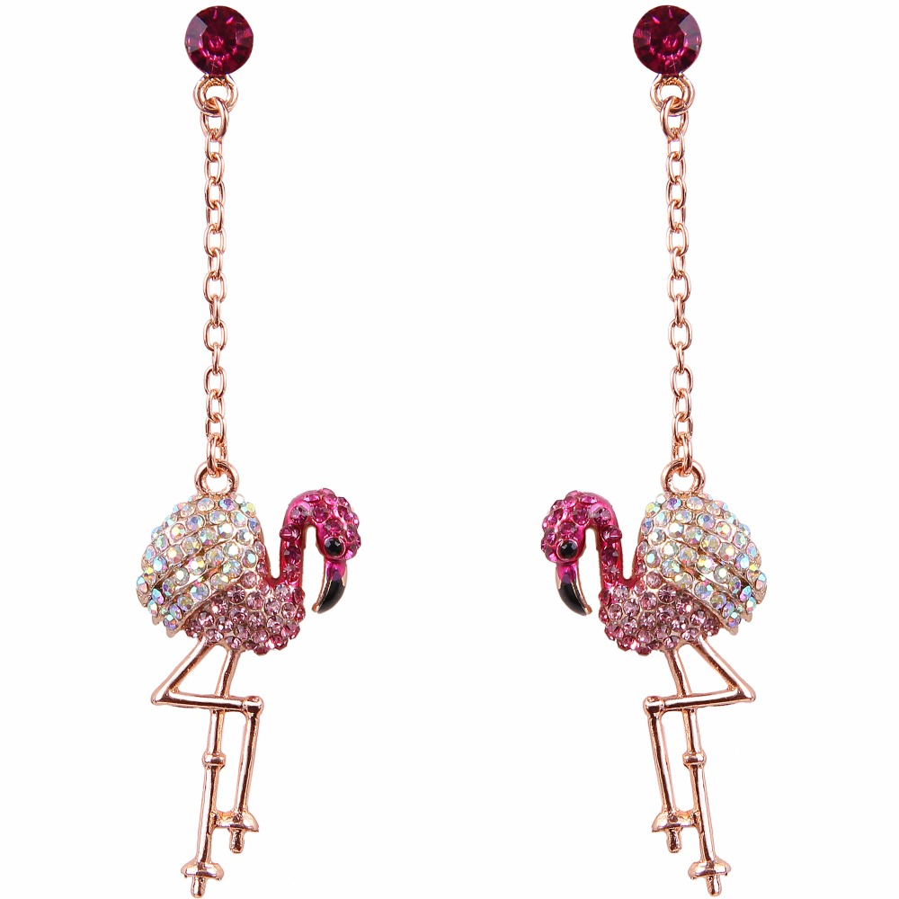 Compare S On Pink Flamingo Earrings Online Ping Low