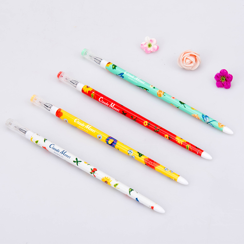 Japan South Korea stationery wholesale blue fruit Monet garden chopsticks pen gel pen creative 0.38mm 10 pcs/set тетрадь для рисования south korea shopping secret garden key