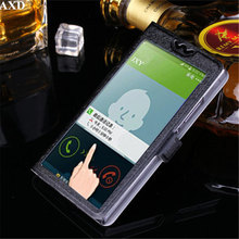 5 Colors With View Window Case For LG Optimus L7 LG P700 P705 Luxury Transparent Flip Cover For LG P700 Phone Case