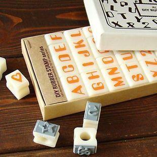 Anglais Cursive Digital English Stamp Wooden AlPhaBet Digital And Letters Seal Set Standardized Stamps letter digital seal