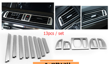 new accessories For BMW 5 Series F10 f18 520li 2011-2014 Air Vent Outlet Cover Trim 13pcs / set
