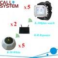 Enfermería casa Electronic llamando sistema de campana 5 relojes 5 piezas zumbadores 2 repetidor de señal inalámbrica equipo