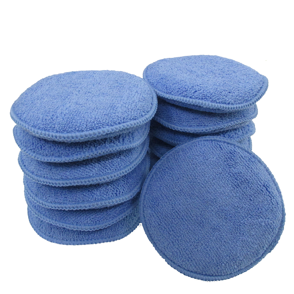 4 Pcs Soft Microfiber Car Polish Plasti Dip Car Cleaning Sponge Cloths Wax Polishing Pad Detailing Microfiber Applicators Hard