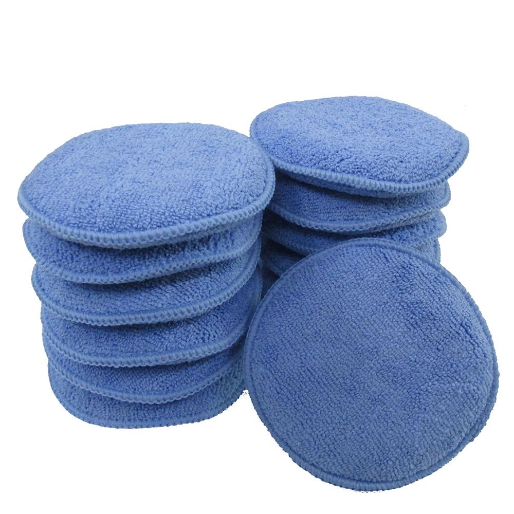 4 Pcs Soft Microfiber Car Polish Plasti Dip Car Cleaning Sponge Cloths Wax Polishing Pad Detailing Microfiber Applicators Hard