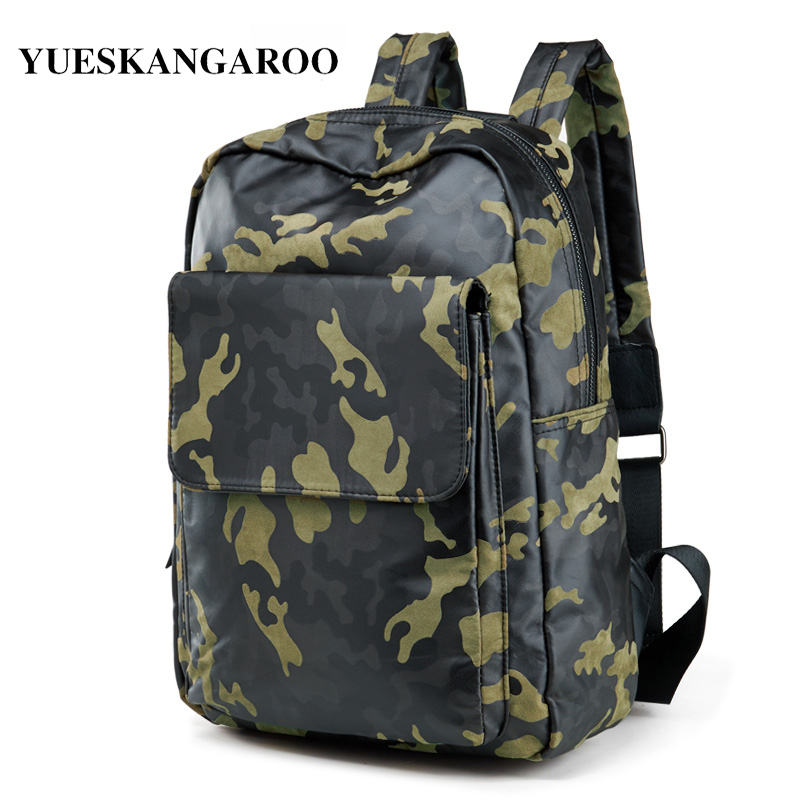 YUES KANGAROO Men High Quality Canvas Camouflage Backpack Youth Casual Travel Rucksack School Book Bag Male Laptop Shoulderbag casual canvas satchel men sling bag