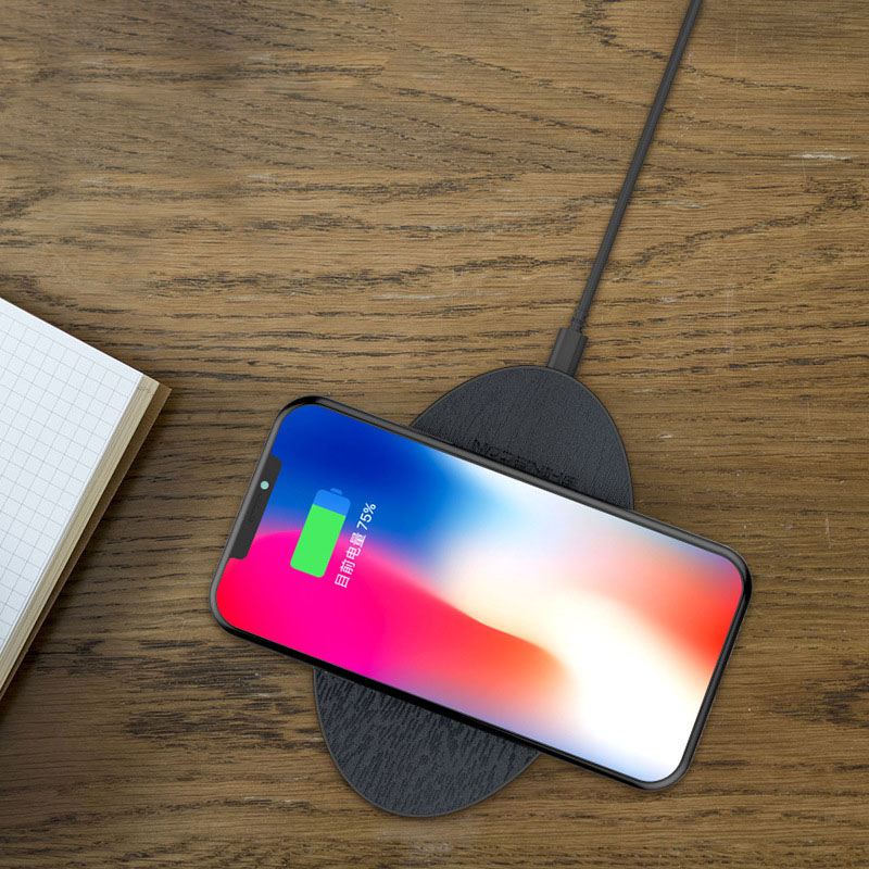 ENKLOV New for iphoneX 8 8plus Wireless Charging Qi Slim Wireless Charger 5W Fast Charging Pad For Samsung S8 Edge Phone USB