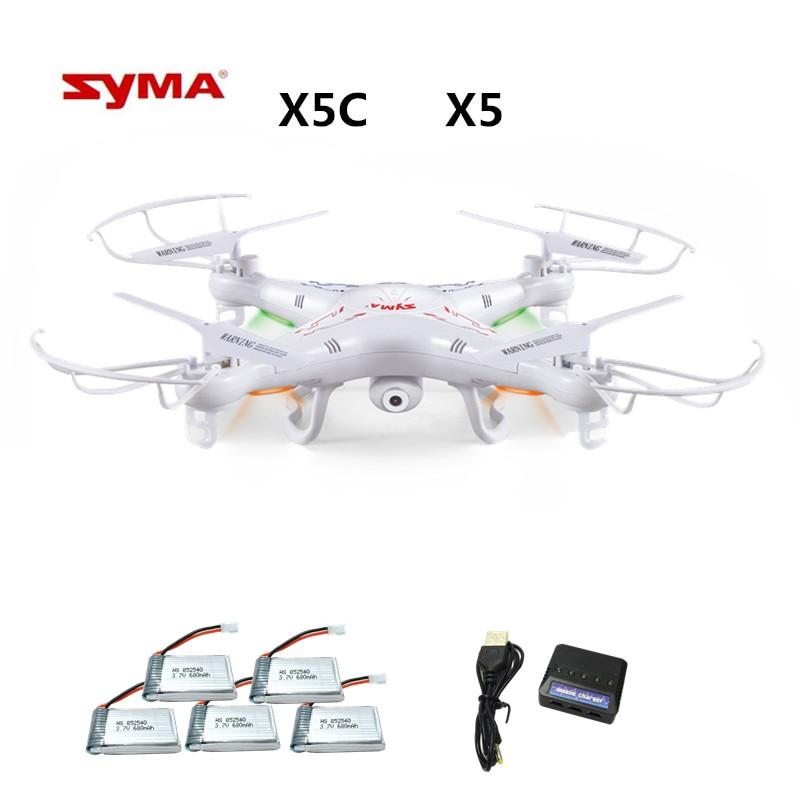 Syma X5C X5C-1 (drone con cámara 2.0MP) quadcopter con cámara RC drone quadcopter o Syma X5 X5-1 (no Cámara) 2.4g 4CH Dron
