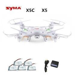 Syma X5C X5C-12.4G (zangão com Câmera 2.0MP) Quadrocopter com Câmera RC Drone Quadcopter ou X5 Syma X5-1 (sem Câmara) 2.4G 4CH Dron