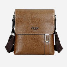 2016 Jeep Brand male bag men's PU leather shoulder bag business vertical Crossbody bags men Messenger bag briefcase