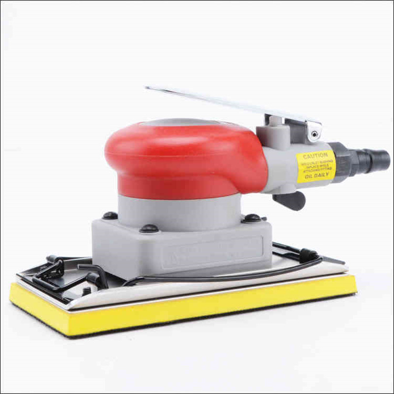 20331 vibration type pneumatic sanding machine rectangle grinding machine sand vibration machine polishing machine 70X150mm swingable pneumatic eccentric grinding machine 125mm pneumatic sander 5 inch disc type pneumatic polishing machine