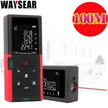 Waysear 80m 100m laser telêmetro digital medidor de distância a laser roleta régua trena fita medida range finder ferramentas