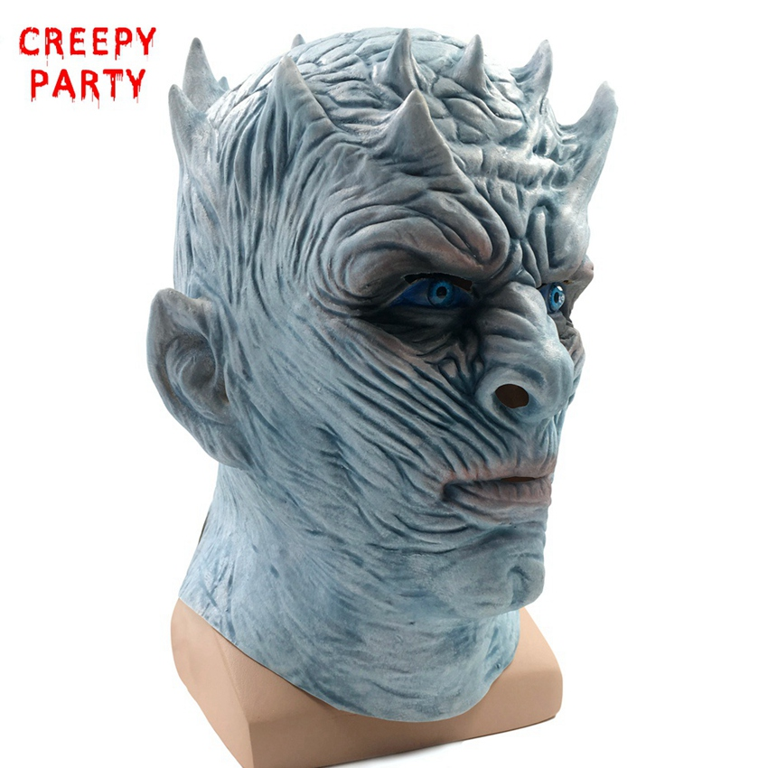 Game Of Thrones Halloween Mask Night's King Walker Face NIGHT RE Zombie Latex Mask Adults Cosplay Throne Costume Party Mask
