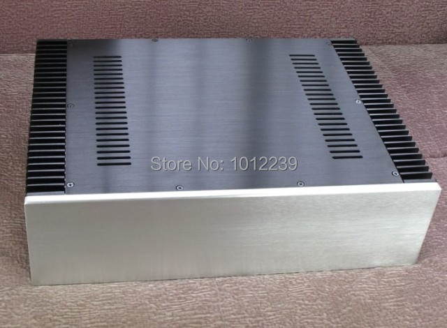 hot sale New power amp aluminum/ amplifier chassis  Both sides with heatsinks size width 430 mm    Height 120 mm   Depth 310 mm 3206 amplifier aluminum rounded chassis preamplifier dac amp case decoder tube amp enclosure box 320 76 250mm