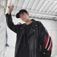 アウト · オブ · シーズンのクリアランス販売秋冬メンズカジュアル若者のポップストリートウエア V 襟 PU 革ジャケット