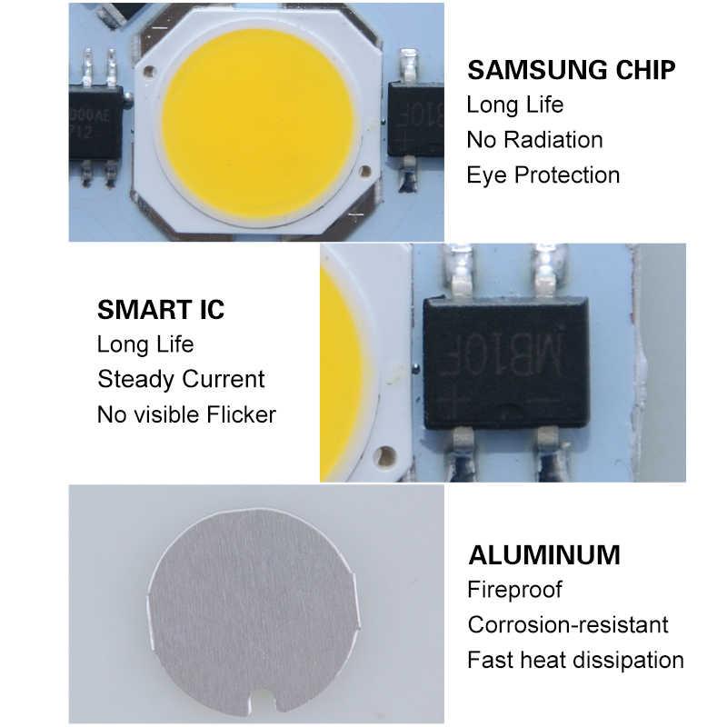 SMD COB LED مصباح Epistar رقاقة الفاصوليا لمبة التيار المتناوب 220 فولت 110 فولت الأضواء أبيض/ضوء دافئ مع الذكية IC سائق للإضاءة كشاف ضوء