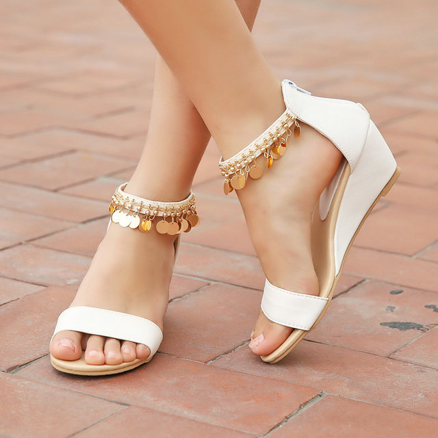 Online Get Cheap Low Heel Wedge Sandals Women -Aliexpress.com ...