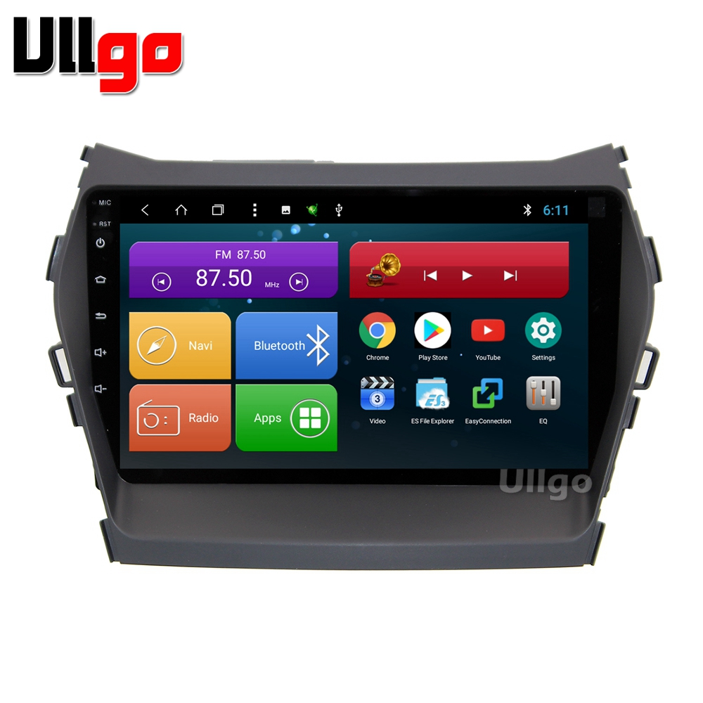 9 pollice Android 8.1 Unità della Testa Dell'automobile per Hyundai iX45 Santa Fe 2013 + Autoradio gps con BT Radio RDS specchio-link Wifi 16 gb mappa della carta