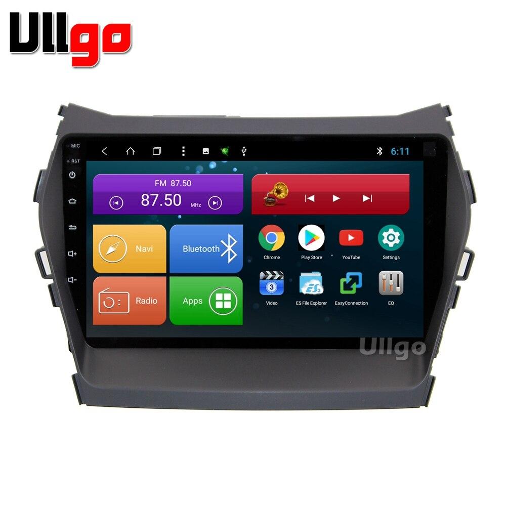 9 pouce Android 8.1 Unité De Tête de Voiture pour Hyundai iX45 Santa Fe 2013 + Autoradio gps avec BT Radio RDS miroir-lien Wifi 16 gb carte carte