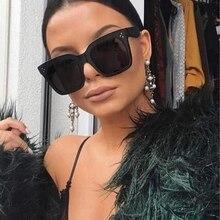 Seemfly 2019 Fashion Sunglasses Lad Flat Top Eyewear Lunette Femme Women Luxury Brand Rivet Sun Glasses Gafas De Sol UV400