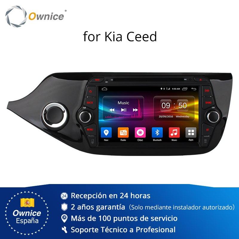 Ownice C500 4G SIM LTE Octa 8 Core Android 6.0 pour Kia CEED 2013-2015 lecteur DVD de voiture GPS Navi Radio WIFI 4G BT 2 GB RAM 32G ROM