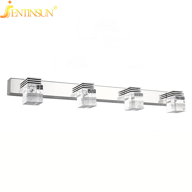 61cm Fashion New Warm White 4 Heads 12W LED Modern Wall Crystal Lights Lamp Sconce Bathroom Mirror Glass Waterdroop Lightings new design nature white 2heads 6w 30cm led modern crystal wall lights lamp sconce factory wholesale led lightings