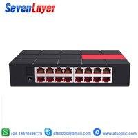 Porta do Switch Gigabit 10 16/100/1000 Mbps SG105M RJ45 LAN Fast Ethernet Switching Hub de Rede Desktop Shunt|Transmissão e cabos| |  -