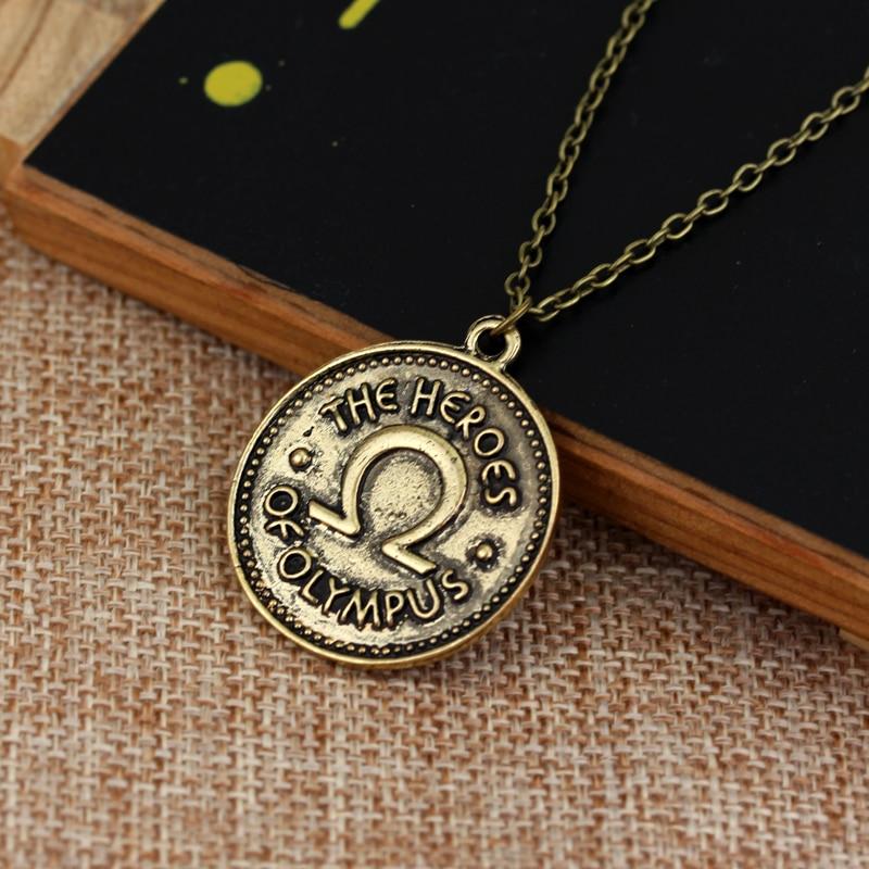 Dongsheng винтажные аксессуары Перси Джексон лагерь половина крови герои olympus ivlivs монета Подвески Ожерелья