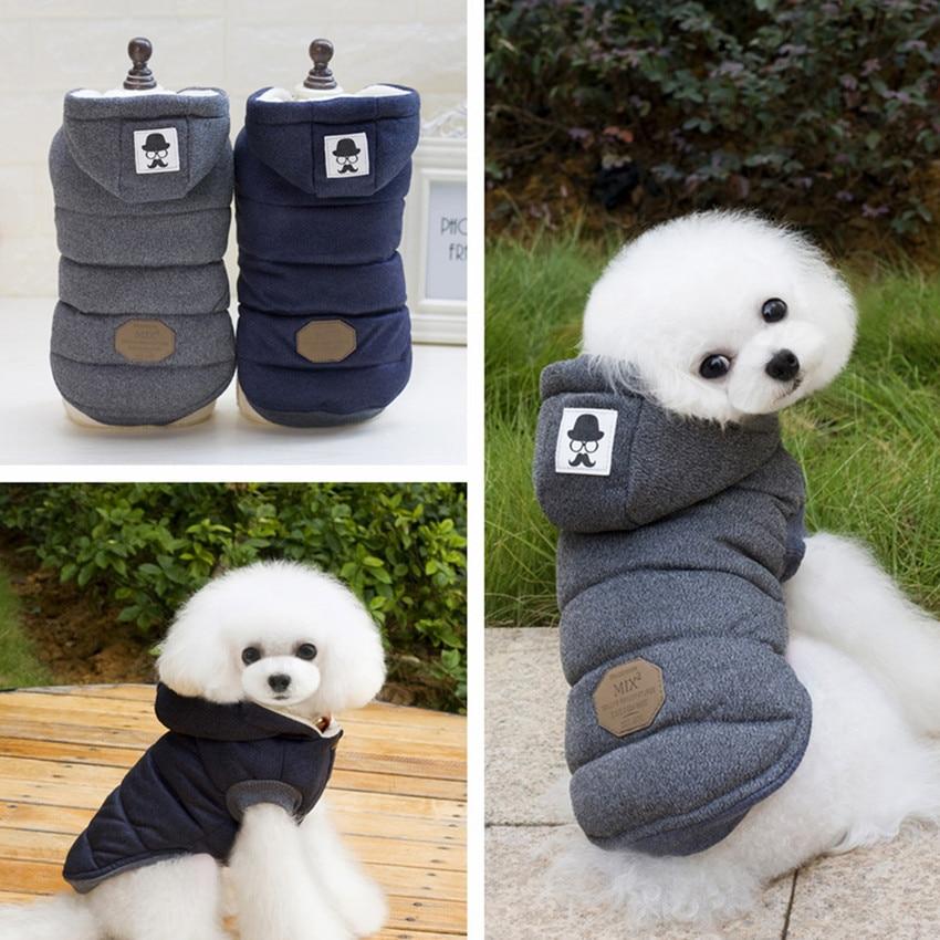 Ziemas suņu apģērbs Pet Coat Jacket maziem vidējiem suņiem Mājdzīvnieku apģērbs Mīksts kucēnu kapuci Chihuahua apģērbi 11by30