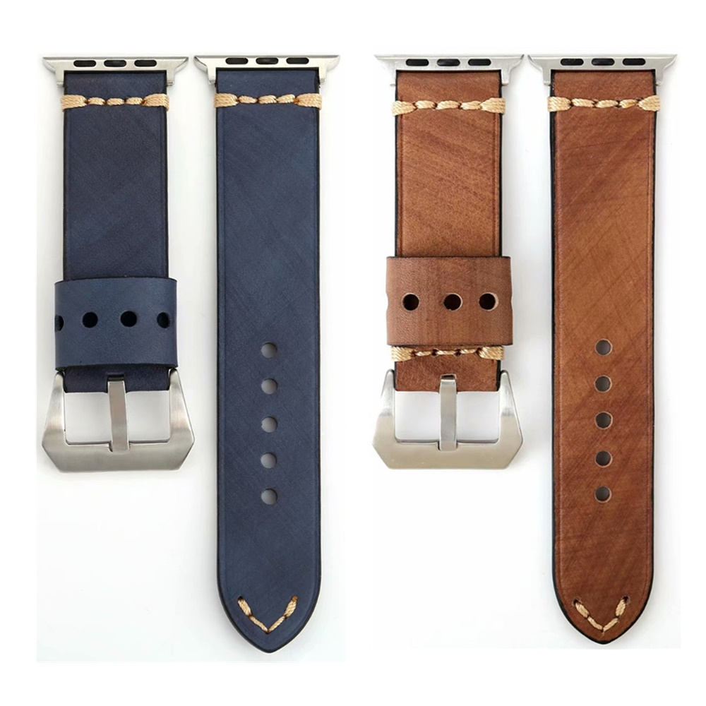 Watchband Strap for Apple Watch Series 4 3 2 1 Vintage Leather Bracelet for iWatch 38/42/40/44MM Wristband Belt Accessories