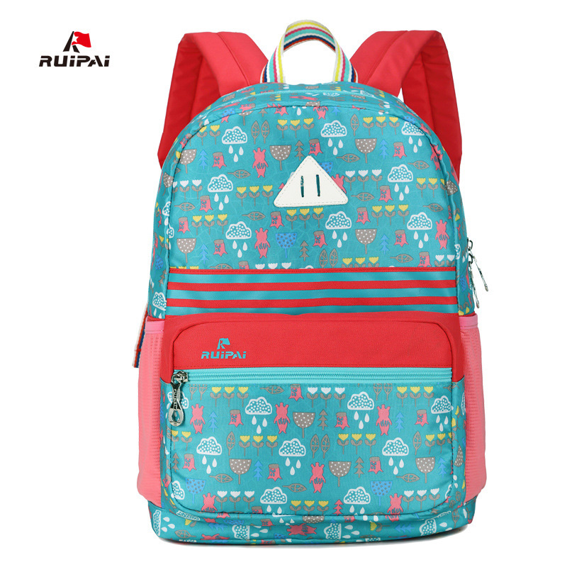 ruipai classic fashion style childrens backpack schoolbag printing satchel school bag mochila small fresh waterproof backpack - Small Childrens Images