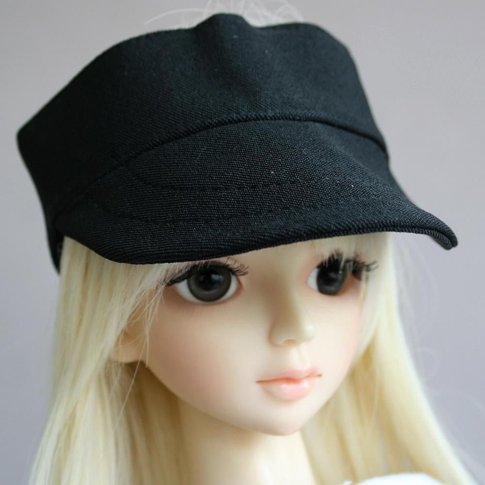 [wamami] 21# Black Cap/Hat 1/4 MSD DOD DZ LUTS BJD Doll Dollfie unisex irregular long t shirt for bjd doll 1 6 yosd 1 4 msd 1 3 sd10 sd13 sd16 sd17 uncle luts dod as dz sd doll clothes cwb7