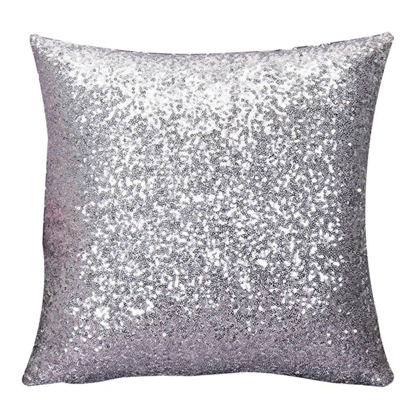 super deal 2016 solide couleur glitter paillettes jeter taie doreiller caf maison couvre coussin - Coussin Color Pas Cher