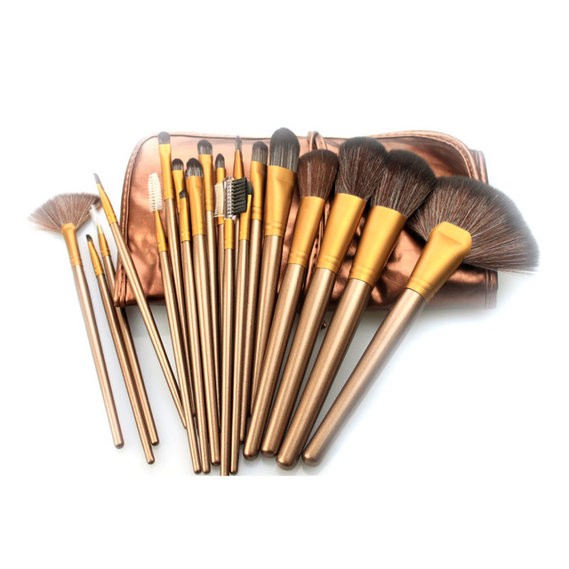 Womens Best Makeup Brush Sets Wood Handle Portable Facial Brush Kits  Sythetic Hair Cheap Makeup Brushes For Sale BS21X002 643a97666f