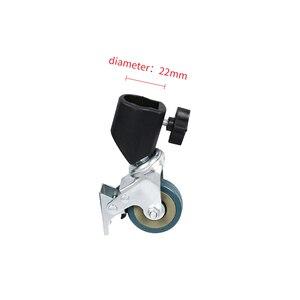 Image 2 - 3pcs Photo Studio Heavy Duty Universal Caster Wheel For Light Stands&Studio Boom