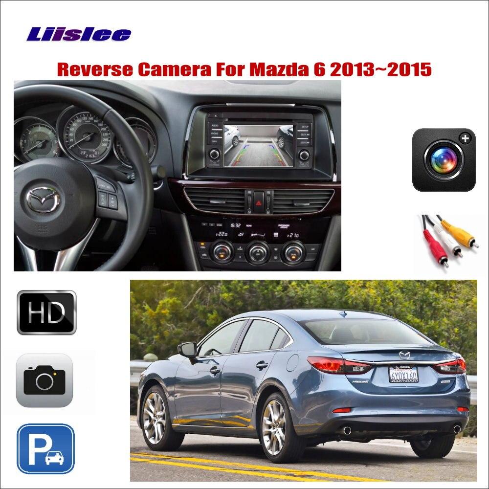 Liislee For Mazda 6 Mazda6 2013~2015 Car Reverse Rear View Camera / Connect The Original Factory Screen / RCA Adapter Connector
