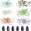 100 unids 3D Encanto de la Aleación de Protección Ambiental Brillo Nail Art Rhinestone Del Brillo de Cristal Decoraciones Accesorios de Manicura