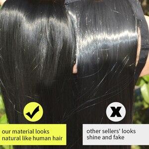 Image 5 - SARLA Extensions de cheveux synthétiques Halo, postiches avec fils cachés, bandeau Secret, sans Clip, sans bande, 10 pièces, 14 pouces, 16 pouces, 18 pouces