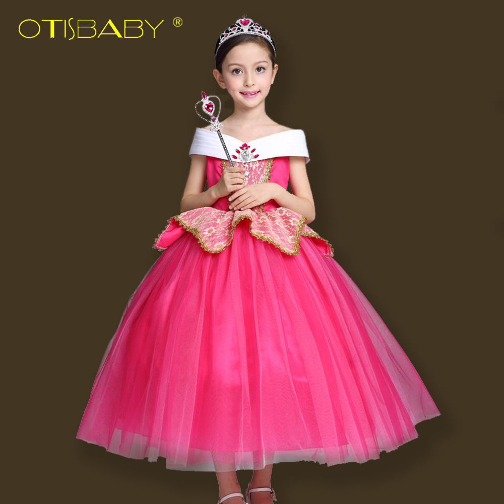 Autumn Aurora Princess Dress for Girls Sleeping Beauty Cosplay Costumes Kids Halloween Party Dress Children Christmas Clothes sleeping beauty like princess pet bed for miniature poodle mini schnauzer pekingese etc