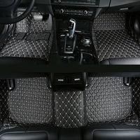 Car floor mats for Audi A4 B5 B6 B7 B8 A5 A6 C5 C6 C7 allroad Avant Q3 Q5 Q7 leather car carpets